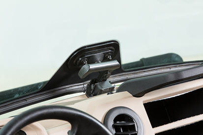 Windshield in vent position