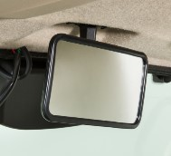 Rearview mirror (shown in tan on a model year 2021 vehicle)