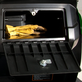 Glove box lock (unlocked position)