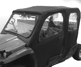 Canvas cab doors