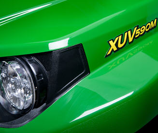 XUV590M with optional power steering