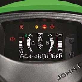 Meters en indicatorlampen (schakelaar aan om de functies te illustreren)