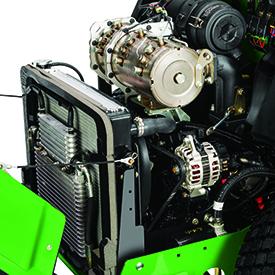 3-cilinder dieselmotor met dieselpartikelfilter (DPF) die voldoet aan Fase V