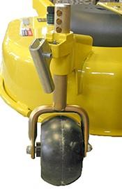 Niet-smeerbaar wiel met stappen van 12,7 mm (0,5 in.) (serienummer -050,000)