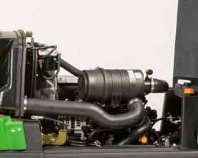 Algemeen overzicht van de motor vanaf de linkerzijde van de machine