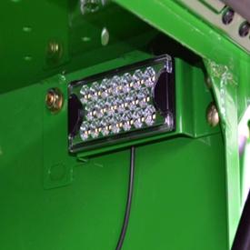 Lichtdiode (led-lamp) in de éénrijige touwkast