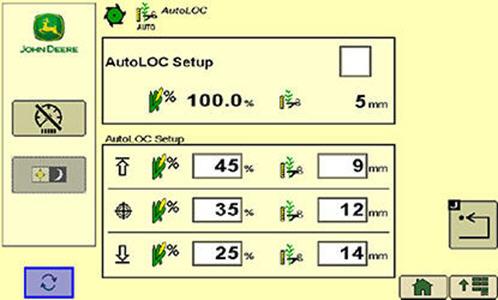 AutoLoc-scherm