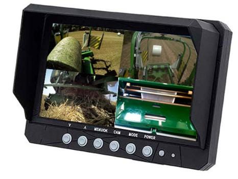 Speciaal scherm met weergave van vier camera's