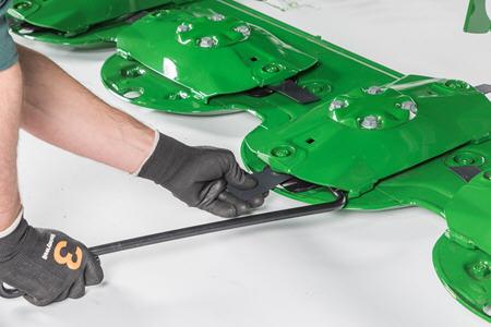 Technologie voor een snelle vervanging van de messen (QCK)