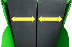 Slechts twee riemen - door de geavanceerde spoorbreedte kan de operator onder alle omstandigheden werken
