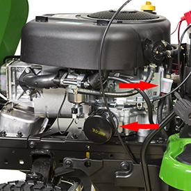 Oliefilter en brandstoffilter van de motor