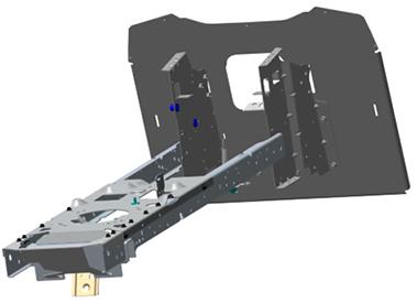 Solide gelast eendelig stalen chassis