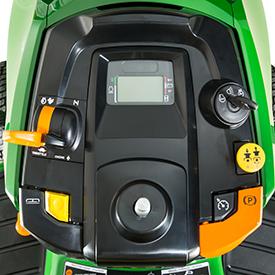 Bedieningselementen en meters (wanneer het stuurwiel is verwijderd)