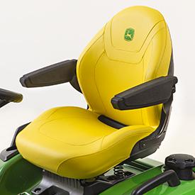 Comfortabele stoel met textiel met optionele armleuningen