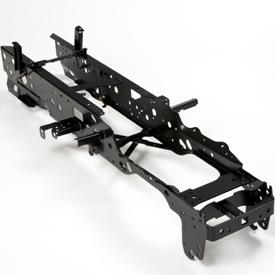 Stalen chassis over de gehele lengte gelast
