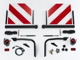 Markeringslampen en waarschuwingsteken - voor extra brede voertuigen