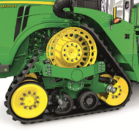 Het onderstel van de 9RX-serie is voorzien van modderschrapers