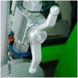 Shut-off valve open