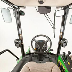 Widoczność z fotela operatora w kabinie ComfortCab
