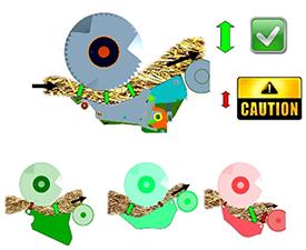 Konstrukcja o kinematyce równoległobocznej eliminuje przewężenia, które zaobserwowano w innych konstrukcjach