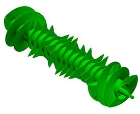 Konstrukcja rotora Premium z zębami, całkowicie zamykająca rurę