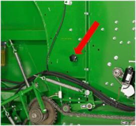 Regulacja owijania sznurkiem za pomocą pokrętła