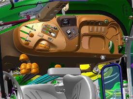 Konsola po prawej stronie w ciągniku 5075E (kabina)