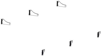 Linguetas de borracha exteriores instaladas pelo concessionário