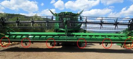 Controlo com o alimentador de culturas com inclinação lateral