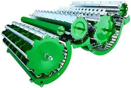 Até 4 m² (43 pés quadrados) de superfície de separação ativa para uma capacidade de processamento superior