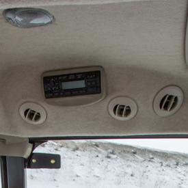 Aberturas do sistema de aquecimento e ar condicionado no teto