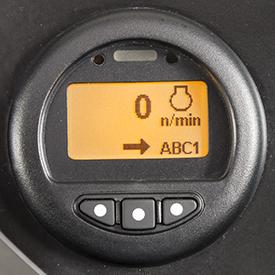 Ecrã de rpm do motor