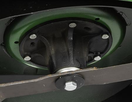 Alojamento dos fusos das lâminas em ferro fundido