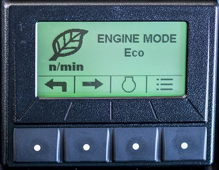 Modo Eco no ecrã TechControl