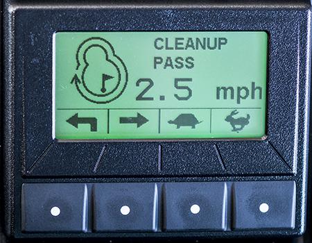 Ecrã de configuração do modo passagem de limpeza