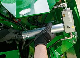 Tubo de aço inserido no sistema de lubrificação