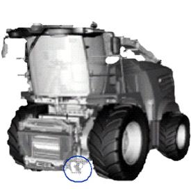 Localização dos acopladores na transmissão da cabeça de corte