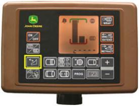 Ativação das lâminas a partir do monitor BaleTrak™