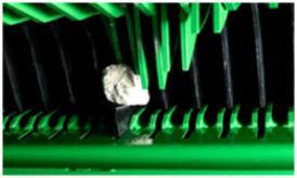 Proteção individual de cada lâmina para assegurar a qualidade da forragem