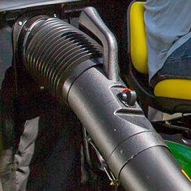 Tubo de descarga superior com pega e indicador de enchimento