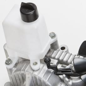 Depósito de expansão da transmissão e alavanca da válvula de reboque
