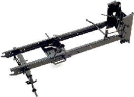 Sólido chassis soldado de uma peça só