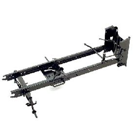 Sólido chassis soldado numa só peça