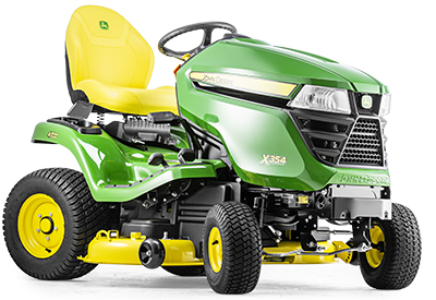 Trator X354 com cortador mulching de 107 cm