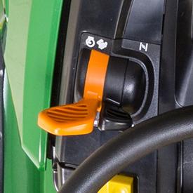 Controlos separados do acelerador e do afogador