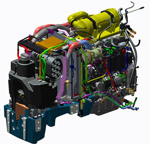 Motor potente e compacto que cumpre a norma de emissões Fase IIIB nos tratores 5GF, 5GN e 5GV
