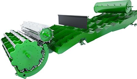 11-ступенчатая конструкция обеспечивает превосходную сепарацию зерна