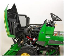 Доступ к обслуживаемым компонентам с поднятой камерой