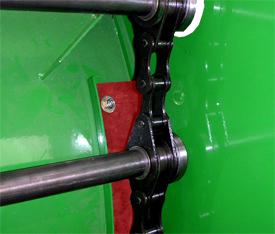 Поглотитель шума обеспечивает тихую работу конвейера