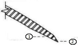 Кромка №10 (внутренний скос, внешняя заточка)